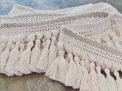 Bijoux 9 inch tassle fringe cotton natur