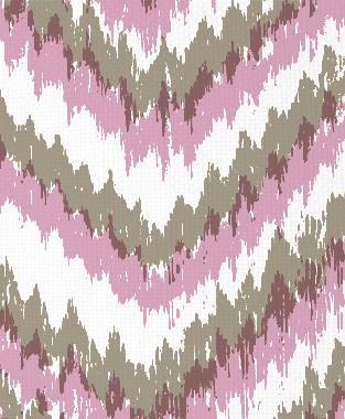 Tillett Textiles Ikat Timer Putty & Pink Pansey