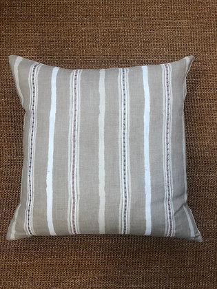 Dabu Stripe Embriodered Cushion