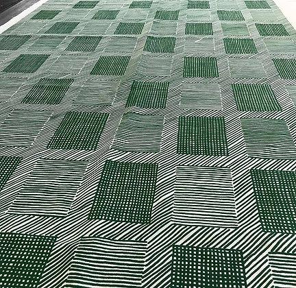 Tillett Textiles T Squares Kelly Green