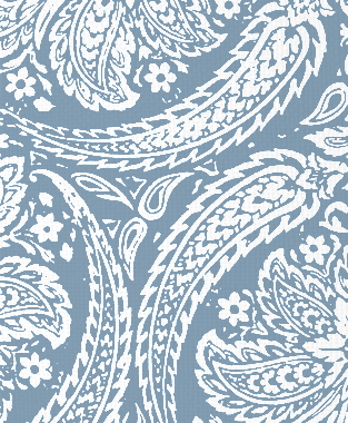 Tillett Textiles Newman Paisley JD Blue