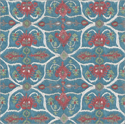 Ferran Textiles Wallpaper Lampang Sapphire
