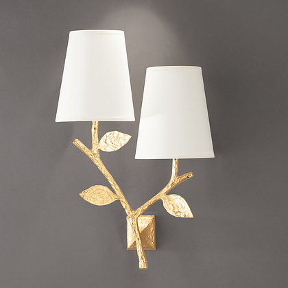 Flora double wall lamp Gold