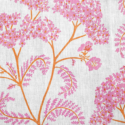 Madder Cutch & Co Achillea Flamingo & Saffron on White