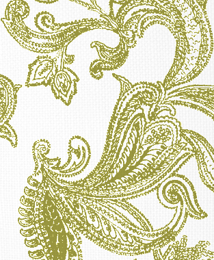 Tillett Textiles Kingston Paisley Forest Moss
