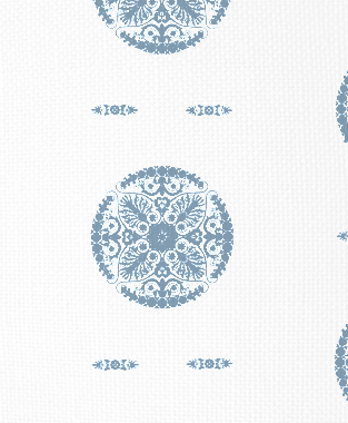 Tillett Textiles Medallion JD Blue