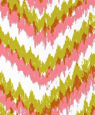 Tillett Textiles Ikat Timer Charteuse & Sorbet