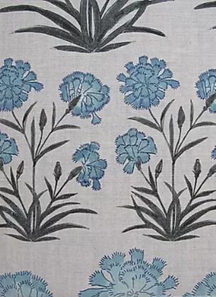MUGHAL MEADOW MINI Blue Oyster Linen