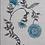 Thumbnail: POPPY STRIPE Blue UK Natural Linen