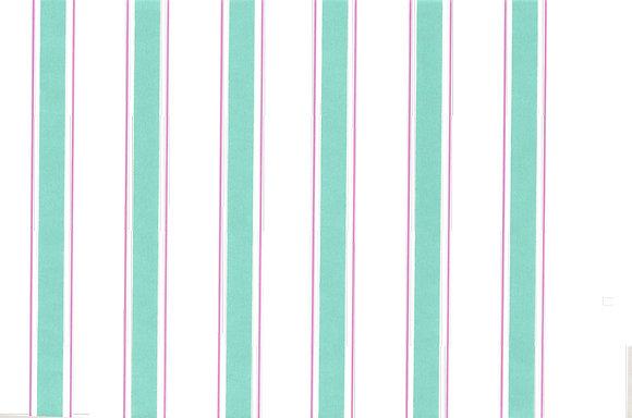Mally Skok Indian Stripe Wallpaper Turquoise/Pink