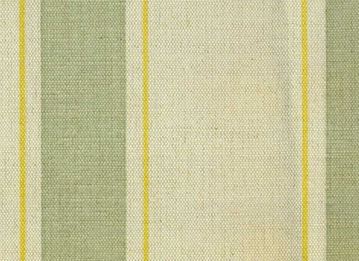 Mally Skok Indian Stripe Green/Yellow on Natural