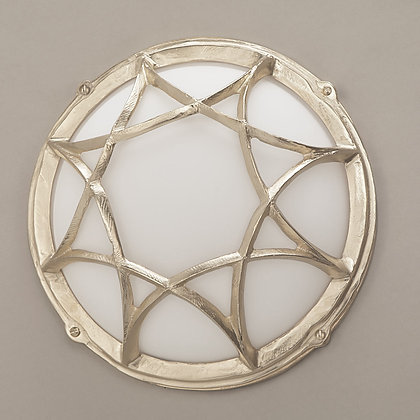 Gaia Outdoor Wall Lamp Nickle