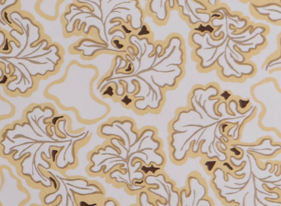 Mally Skok Brimfield Wallpaper Taupe/Yellow
