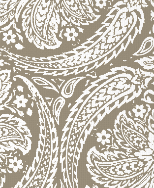 Tillett Textiles Newman Paisley Putty