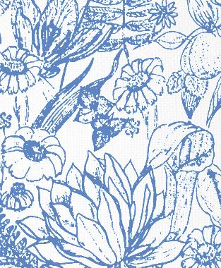 Tillett Textiles Port Manteau Blue Lapis
