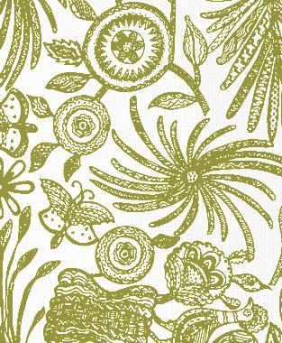 Tillett Textiles Ixtaplauca Forest Moss