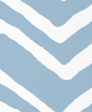 Tillett Textiles Ikat Chevron Sky