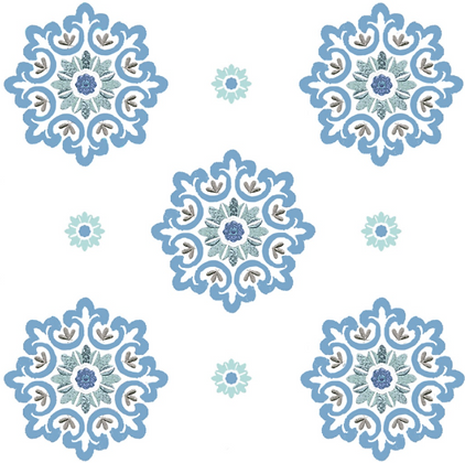 Behl Designs Jaipur Moonlight Blue Emb