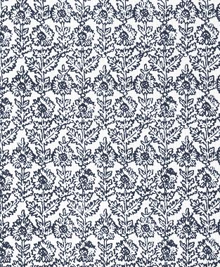Tillett Textiles Sunflower Woodcut Navy