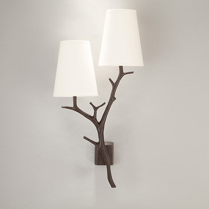 Antler wall lamp Bronze