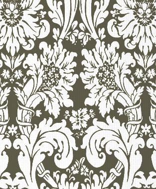 Tillett Textiles Floral Damask Acacia