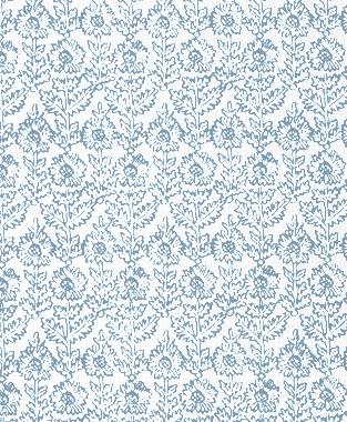 Tillett Textiles Sunflower Woodcut JD Blue
