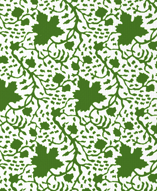 Tillett Textiles Seagrapes Forest Green