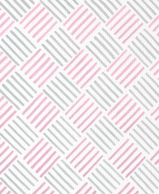 Tillett Textiles Baby Bold Pink Pansey & Metallic Silver