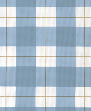 Tillett Textiles Burton Plaid JD Blue & Khaki