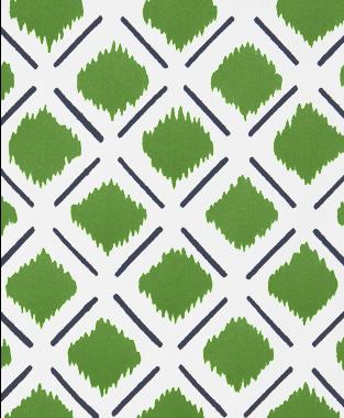 Tillett Textiles Chit Chat Lines Navy & Forest Green