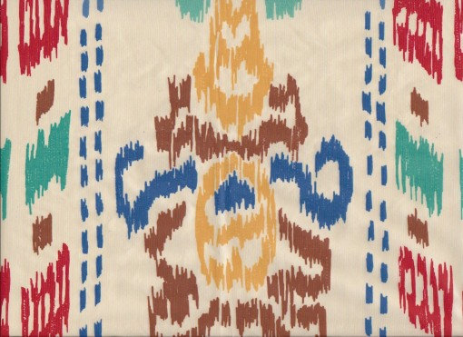 Mally Skok Ikat Crazy Multi on Silk