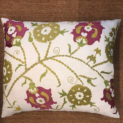 Madeline Weinrib Embroidery Cushion