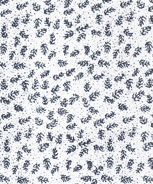 Twigs Navy on White