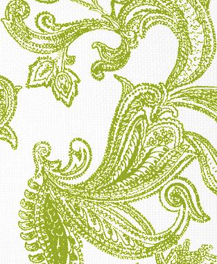 Tillett Textiles Kingston Paisley Dark Lime