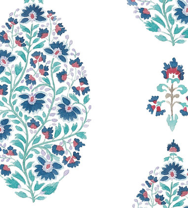 Ferran Textiles Palampore Indigo