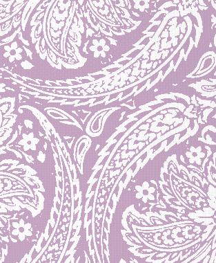 Tillett Textiles Newman Paisley Violet