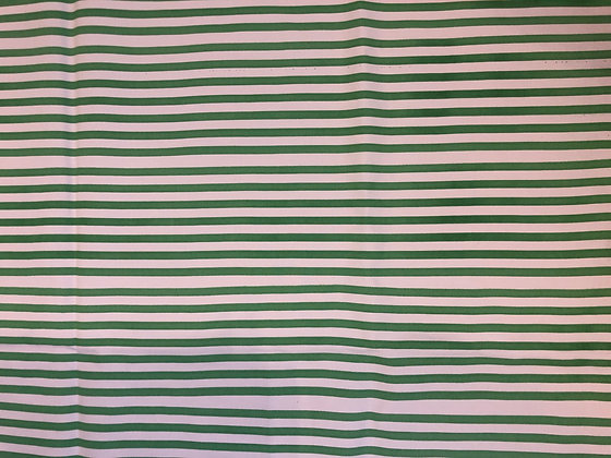 Green Polished Cotton Candy Stripe