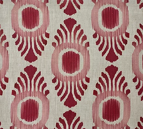 IKAT MINI Pink & Red Oyster Linen