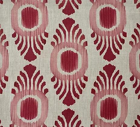 IKAT MINI Pink & Red UK Natural Linen