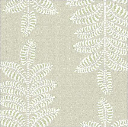 Ferran Textiles Wallpaper Chiswick Fern Driftwood