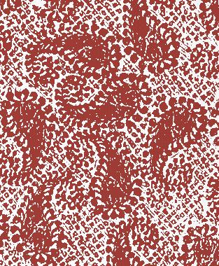 Tillett Textiles Paisley Patch Deep Coral