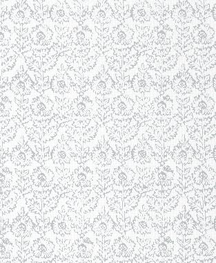 Tillett Textiles Sunflower Woodcut Metallic Silver