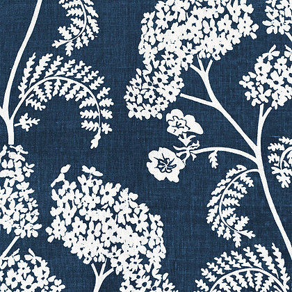 Madder Cutch & Co Achillea Ground Large in Burghley Blue on White