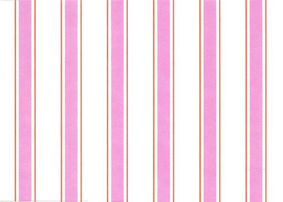 Mally Skok Indian Stripe Wallpaper Pink/Orange