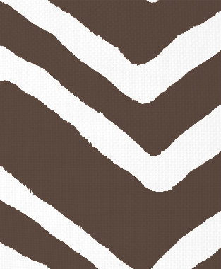 Tillett Textiles Ikat Chevron Cocoa