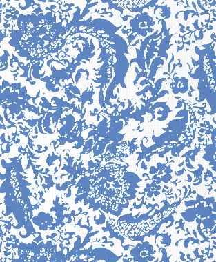 Tillett Textiles Victoria Rose Blue Lapis