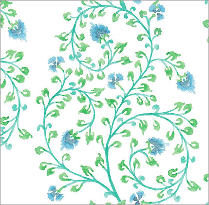 Ferran Textiles Wallpaper Indienne Pool