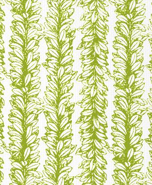 Tillett Textiles Leaves a Scrollin Dark Lime