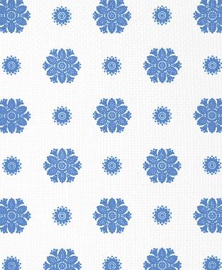 Tillett Textiles Florette Blue Lapis