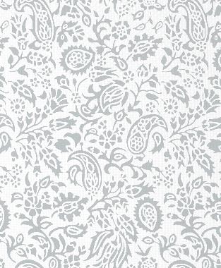 Tillett Textiles Flora Devonshire Metallic Silver